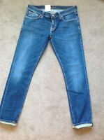 Nudie Jeans Tight Long John Navy Friday Blues W34 L34 Skinny Fit Rrp£120