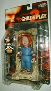 McFarlane-Toys-Movie-Maniacs-Child-039-s-play-2-chucky-ACTION-FIGURE-NEW-Horror-Comme-neuf-sur