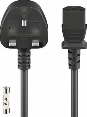 Goobay Uk Cable 5m Black 5m Uk 3-pin Male Type G Bs 1363 Device Socket C13 Iec Maar Toch Niet Vulgair