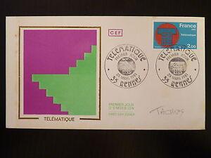 France Premier Jour Fdc Yvert 2130 Telematique 2f Rennes 1981 Avoir Un Style National Unique