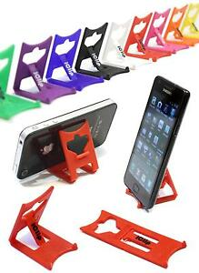 Mobile smartphone iphone 4 5 6 titulaire Pliable Rouge Voyage Iclip Support de Bureau Repos  </span>