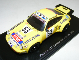 1 43 Spark Porsche 911 Carrera RS Car H of LeMans S2098