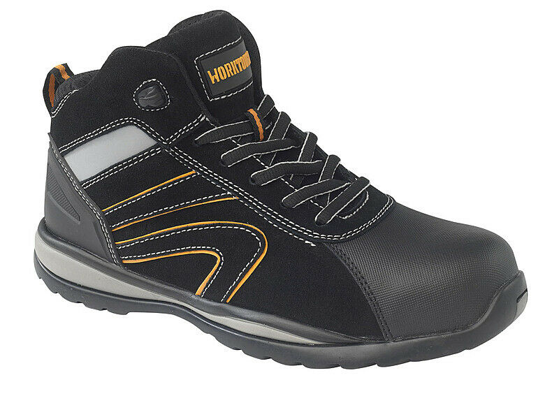 Worktough Strike Safety Work Boots Black (Sizes 3-13) Mens Shoes