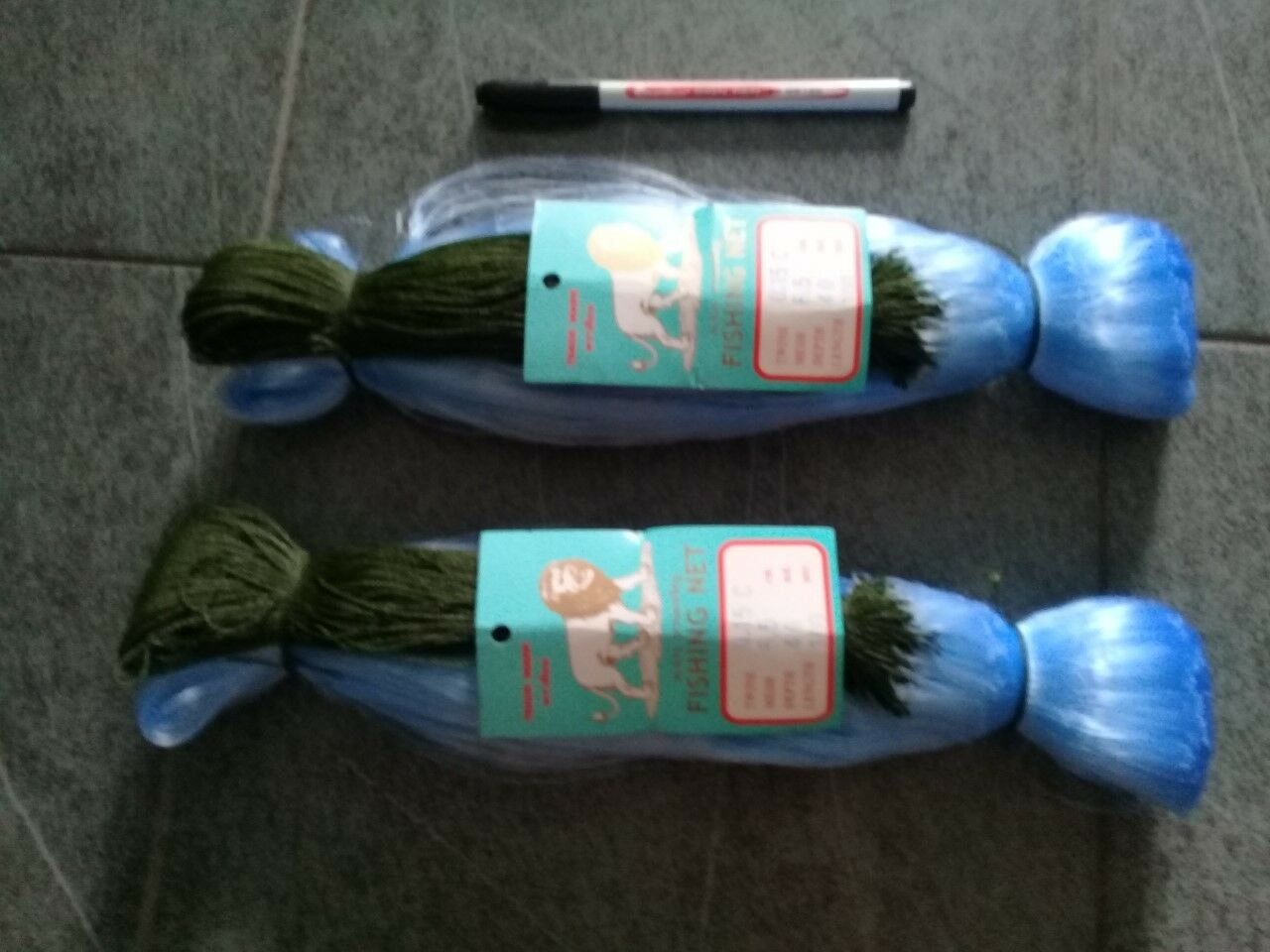 GILL NETS 20 meters. 6.5cm mesh size  (65 ft) long 7ft depth POST FREE..