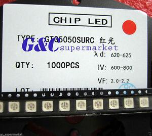 100pcs-SMD-SMT-5050-Super-bright-RED-LED-lamp-Bulb-GOOD-QUALITY-600-800MCD