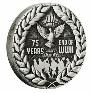 2020-End-of-WWII-75th-Anniversary-2020-Silver-Antiqued-Coin