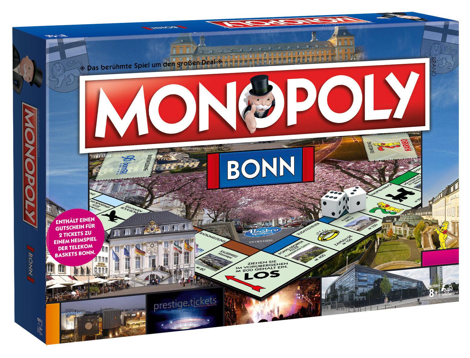 Sconto del 40% Monopoly Bonn Stadtedizione Città Edizione Gioco da da da Tavola di Società Nuovo  design semplice e generoso