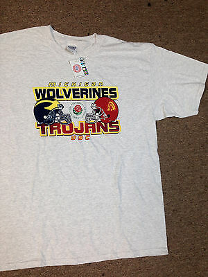 2007 Rose Bowl Michigan Wolverines Vs. USC Trojans Original XL T shirt