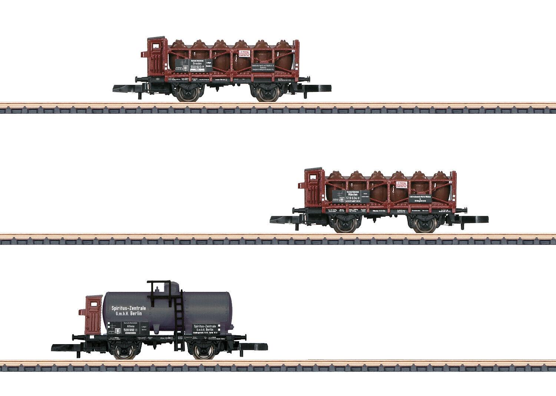 Märklin 82318 Z Gauge Wagon Set   Flüssigkeitstransport   DRG 3-piece