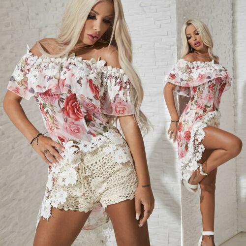 BY ALINA Damenshirt Top Tunika T-Shirt Bluse Longshirt Oberteil 34 XS #C379