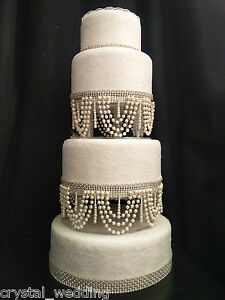 Pearl Swag Design Wedding Cake Stand Separators Ebay