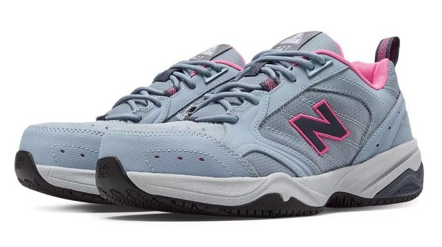 NEU Balance Steel Toe 627 Damens's Größe 10 Grau Blau Azalea Suede WID627GP NEU
