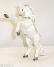 KINGSPOINT BRAVE LIPPIZAN HORSE  PEWTER BEJEWELED HINGED TRINKET / JEWELRY  BOX