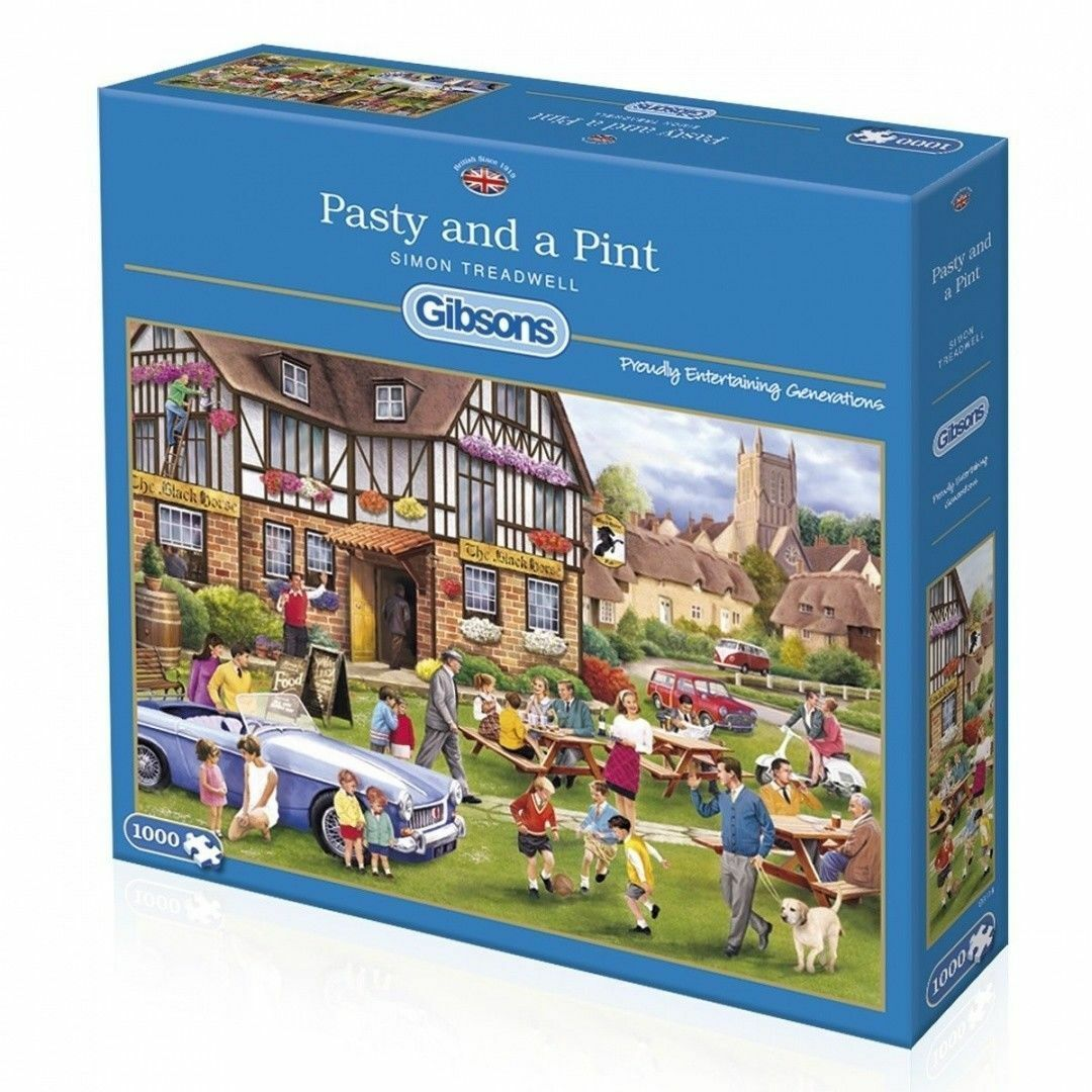 Gibsons Pasty and A Pint Jigsaw Puzzle (1000 PECS) FAST SERVICE FREE POST