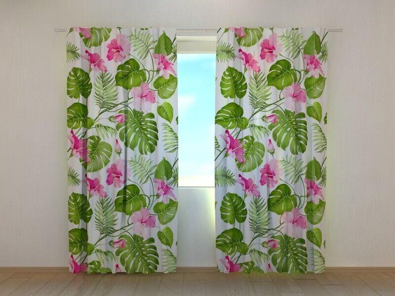 Fotogardinen Tropic, Vorhang, Fotovorhang, Maßanfertigung | Schöne Farbe  | | | Ausgezeichneter Wert  f9423e