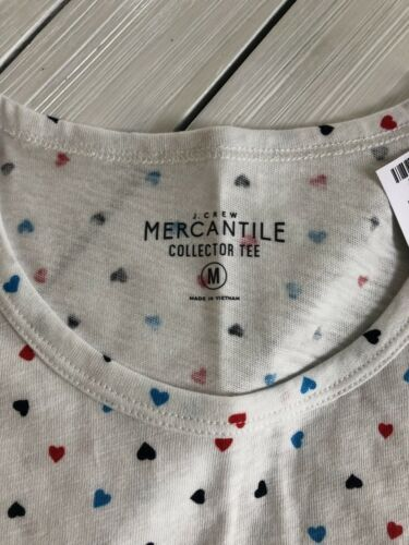 S M L XL J Crew Mercantile Women/'s All Over Hearts Collector/'s Tee Shirt NWT