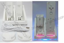 CHARGER DOCKING STATION + 2x RECHARGEABLE BATTERIES FOR WII U REMOTE UK SELLER