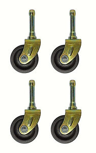 SET-OF-4-BED-FRAME-LOW-CASTER-WHEELS-WITH-SOCKET-INSERTS