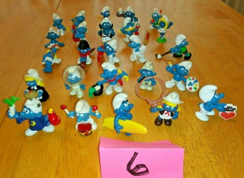 Smurfs1970/'s and 1980/'s Peyo Schleich175 Smurfs 7 Lots of 25