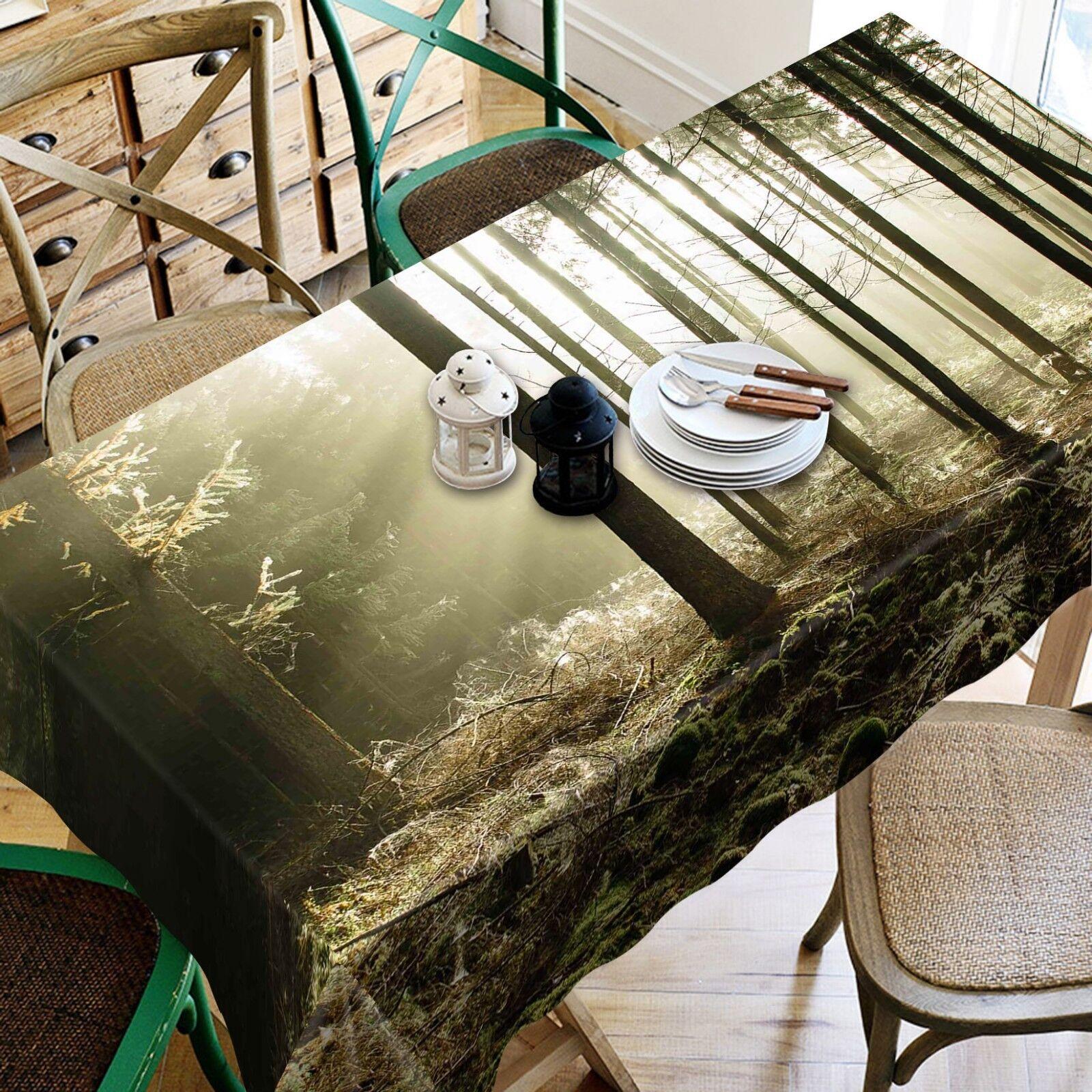 3D Trees Sunny Sky 085 Tablecloth Table Cover Cloth Birthday Party Event AJ Lemo
