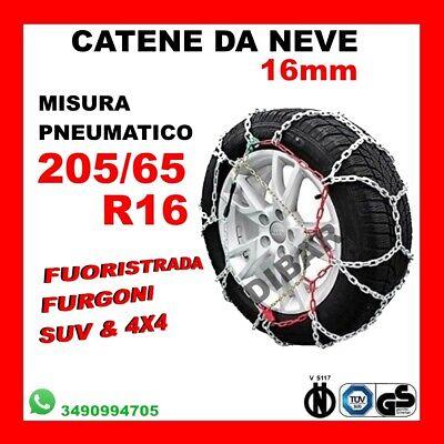 Catene da Neve Power Grip 9mm Gruppo 60 per pneumatici 195//45r16 Lancia Ypsilon