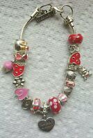 Charm Bracelet With 20 Charms Fits 7 To 9 Inch