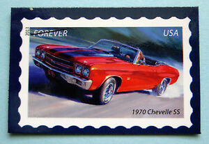 Image Is Loading 1970 Chevelle Ss Chevy Muscle Car Postage Stamp