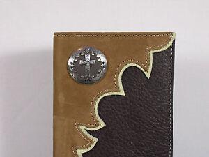 Nocona-Cowboy-Cross-Western-Cowboy-Checkbook-Cover-Wallet-Billfold-Checkbook