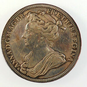 1702-England-OFFICIAL-CORONATION-MEDAL-OF-QUEEN-ANNE-By-Croker