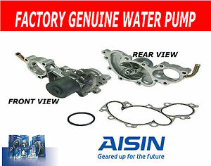 OEM Aisin Engine Cooling Water Pump w// Gasket w// Outlet Pipe for Toyota V6 3.0L
