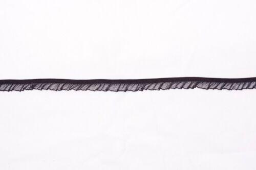 132 M × 17 mm Ancho Negro Elástico De Volantes Ribete De Encaje Con Volante De Organza
