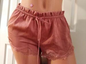 Victoria-039-s-Secret-Sexy-Satin-Lounge-Sleep-Shorts-XS