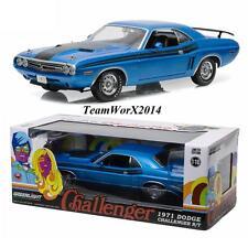 Greenlight 12961 1971 Dodge Challenger HEMI R/T B5 Blue Diecast Model Car 1:18