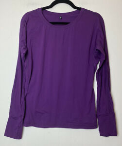 Ptula Womens Long Sleeve Tee Shirt Purple Medium M Thumbholes P Tula Activewear Ebay Our long sleeve seamless top is about to revolutionize the very definition of comfort. ebay
