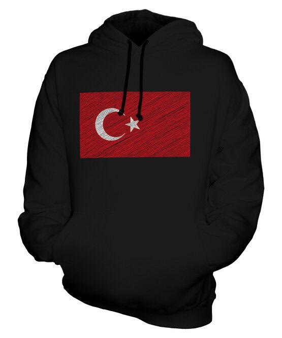 TURKEY SCRIBBLE FLAG UNISEX HOODIE TOP GIFT TÜRKIYE TURKISH