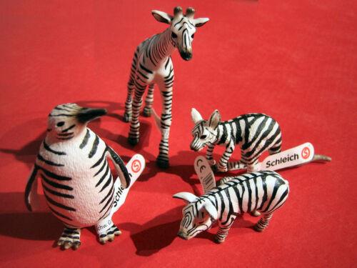 Schleich Spécial Edition 4 animaux en Zèbre Look Limited Edition 75 ans anniversaire