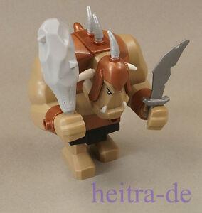 LEGO-Riesen-Troll-mit-Keule-hellgrau-und-Schwert-silber-cas358-60674-NEUWARE