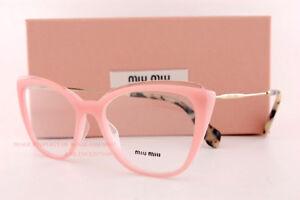 f70201c240ed Brand New Miu Miu Eyeglass Frames MU 02QV VYB Pink Gold Women Size ...