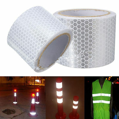 """2""""X10' 3M Silver White Reflective Safety Warning Conspicuity Tape Film Sticker"""