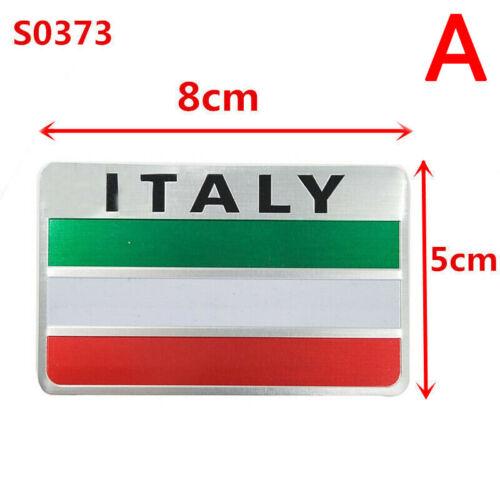 Aluminum 3D Metal ITALY Italian Flag Sticker Emblem Badge Decal Car Decorate SP