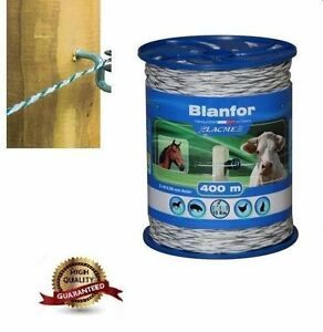 400m-WHITE-ROPE-with-Galvanized-Steel-conductors-2x0-5-mm-ELECTRIC-FENCE-UK