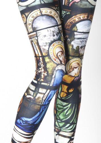 New Festival Wear Church Stained Glass Window Leggings Fancy Dress