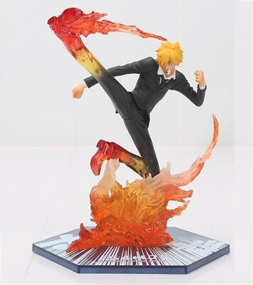 "ONE PIECE figura de acción 17 cm. /""Black Leg/"" Sanji Battle Version"