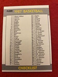 1987-88 Fleer Basketball Checklist #132 Unmarked