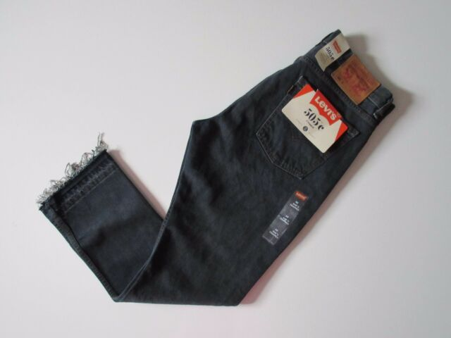 7995fd34c3f NWT Levi's Orange Tab 505 C in Summer of Love Raw Hem Cropped Straight Jeans  32