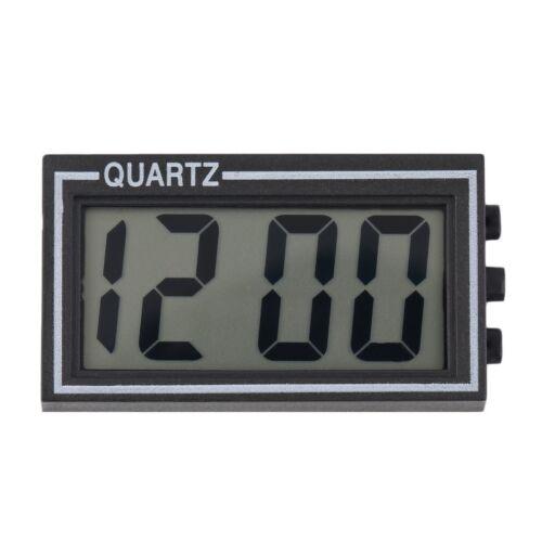 Black Digital LCD Table Car Dashboard Desk Date Time Calendar Small Clock@MT