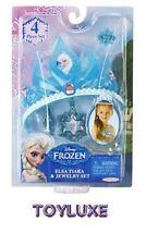 Disney Frozen ELSA TIARA & JEWELRY SET 4 pc NEW Snow Queen Costume Crown DressUp