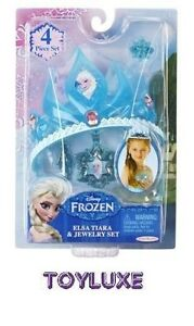 Disney-Frozen-ELSA-TIARA-amp-JEWELRY-SET-4-pc-NEW-Snow-Queen-Costume-Crown-DressUp