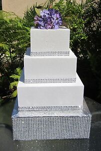 Image Is Loading 10 034 To 18 034 Square Wedding Cake