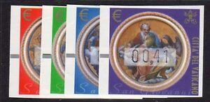Vaticano-2002-Automatici-4-Evangelisti-MNH